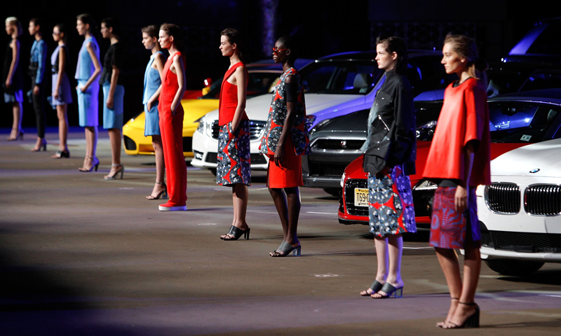 Atmosphere at the Opening Ceremony fashion show during Mercedes-Benz Fashion Week Spring 2014. – Photo by AFP