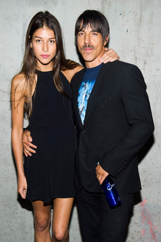 Anthony Kiedis and Helena Vestrgaard attend the Edun collection on Sunday. – Photo by AP