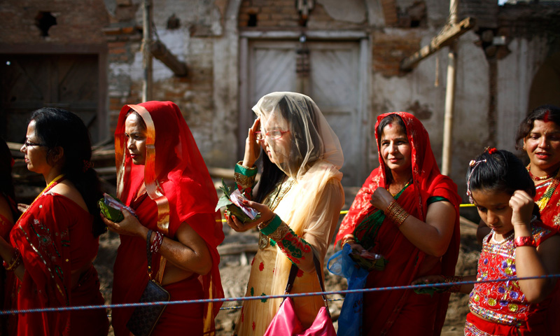 It falls on the third day after the new moon of the Shraavana or Saawan month of Hindu calendar in late July to early August. – Photo by Reuters