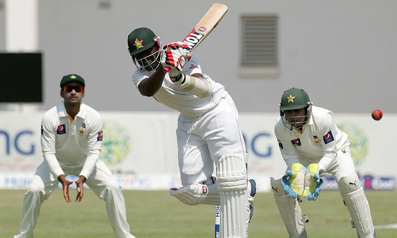 Zimbabwe stumble after century stand