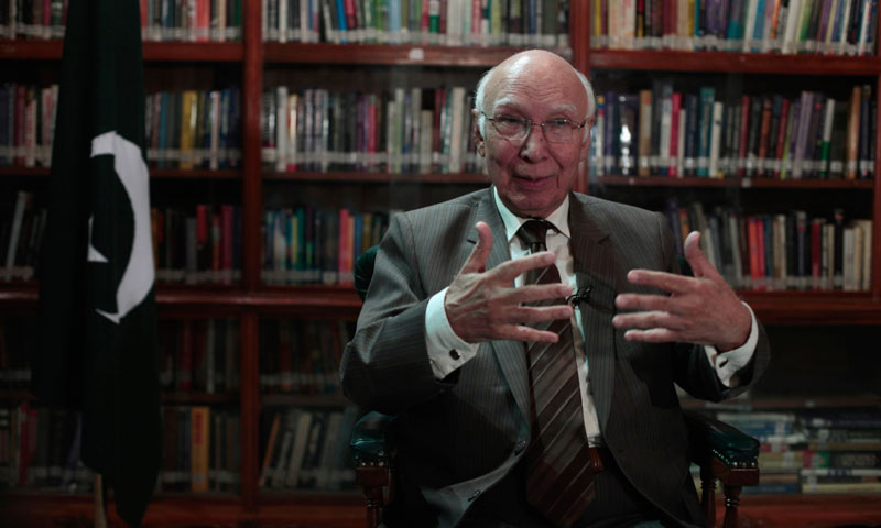 Sartaj Aziz, Prime Minister Nawaz Sharif's adviser on foreign affairs. -Reuters Photo