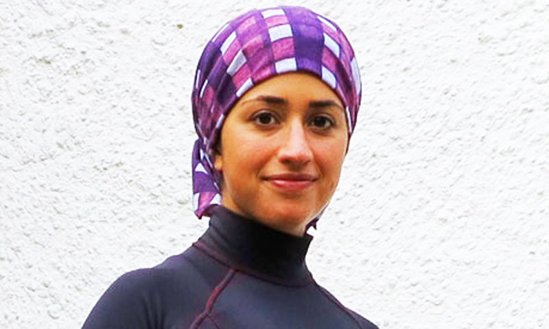 24-year-old Shirin Gerami will be the first Iranian female triathlete to compete for her country. -File Photo