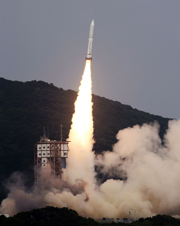 The launch took place at the Japan Aerospace Exploration Agency's Uchinoura Space Center in Kimotsuki town. – Photo by AFP