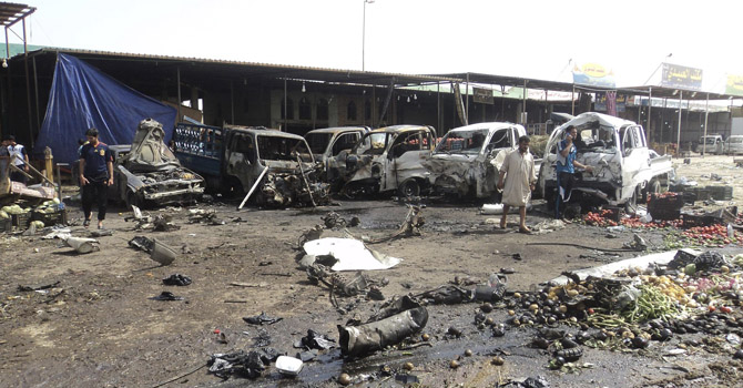The bombs targeted commercial areas and parking lots in seven cities - File Photo