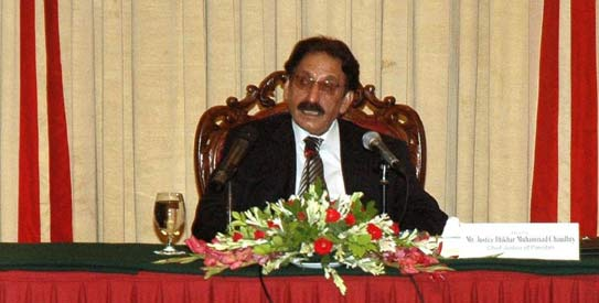 Chief Justice Iftikhar Muhammad Chaudhry - File Photo