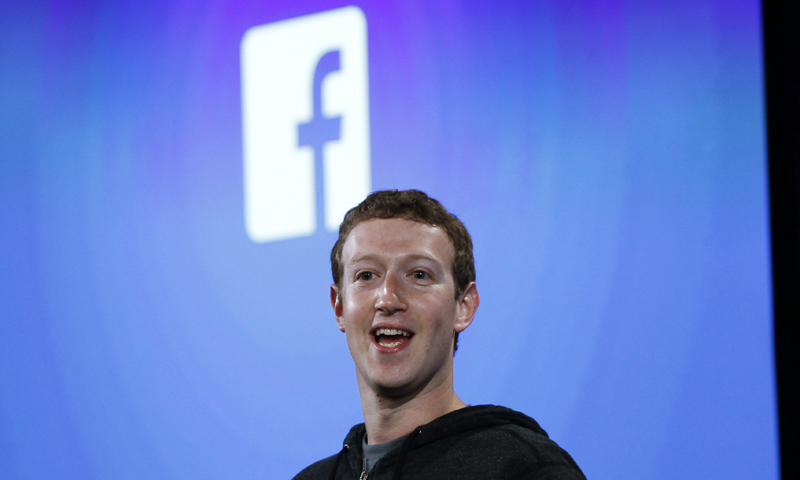 Mark Zuckerberg, Facebook's co-founder and chief executive speaks during a Facebook press event in Menlo Park, California, in this April 4, 2013 file photo. — Reuters Photo
