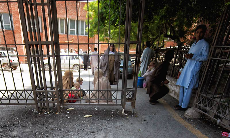 As if immunised the people of Peshawar go on with their lives.   The cacophony concludes at the city's Lady Reading Hospital, where the actual activity takes place, right behind the strikingly high walls of the FC headquarters Bala Hisaar Fort.
