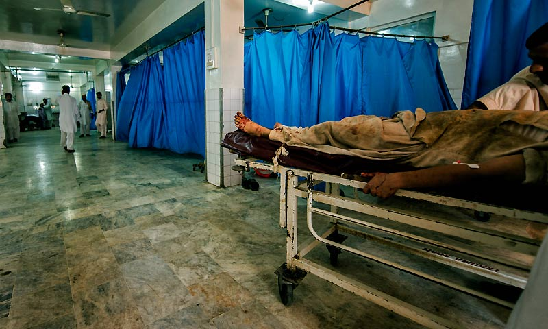 With most terrorist attacks, the dead are left for identification at the morgue, while the injured are discharged after treatment or forwarded to Out-Patient Departments (OPDs) to cater to their specific injuries in the only hospital to treat terror victims of the entire province and its adjoining region.