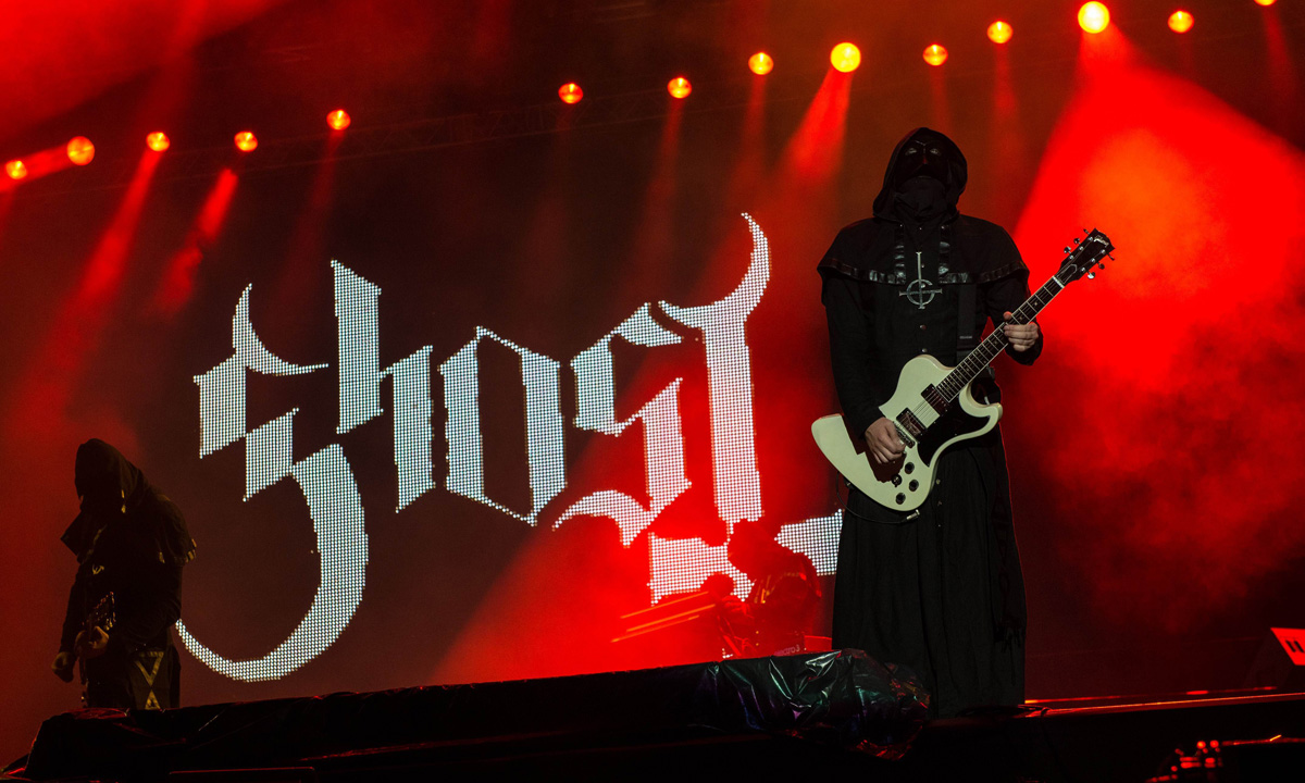 Swedish band Ghost B.C. perform during the festival.
