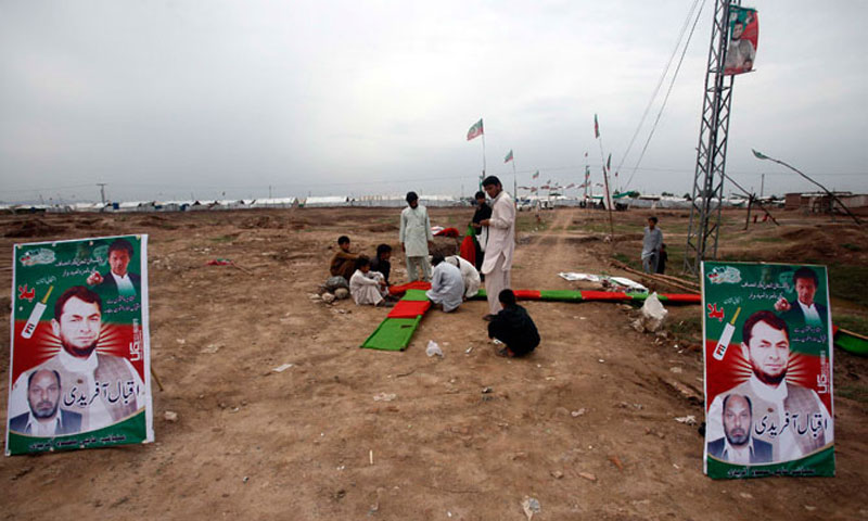 A view of the Jalozai camp. — File photo