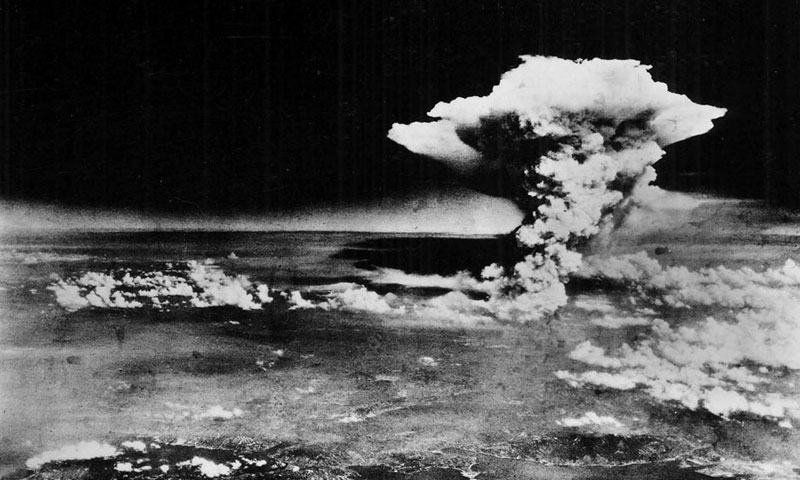The Hiroshima A-bomb blast photographed by the US military on Aug 6, 1945. The US accidentally dropped over North Carolina in 1961 two atomic bombs 260 times more powerful than Hiroshima.