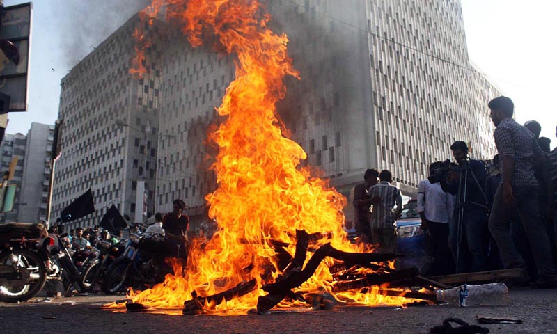 Protests paralyse life in cities - Pakistan - DAWN COM