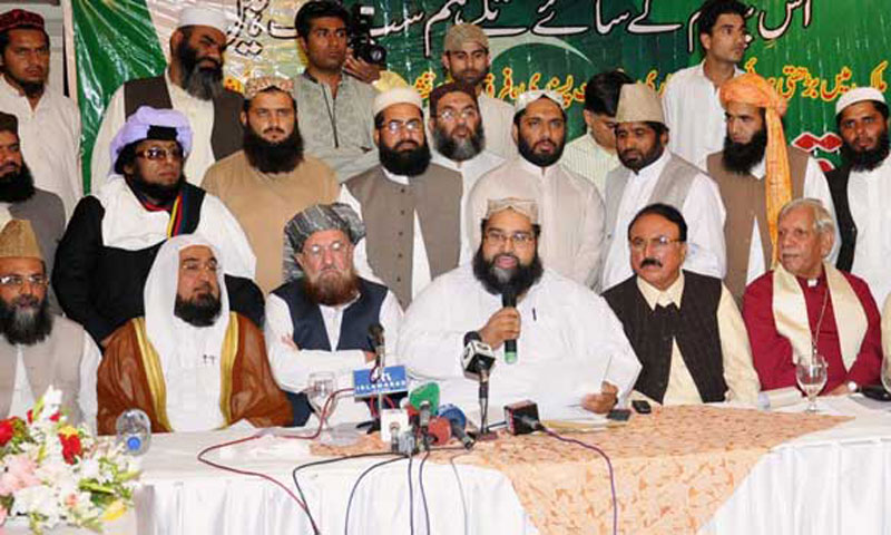 Pakistani clerics speak during a press conference. – File Photo