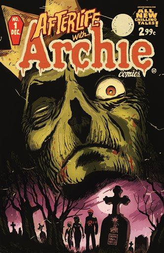 """This image released by Archie Comics shows """"Afterlife With Archie,"""" a series debuting Wednesday, Oct. 9. - Photo by AP"""