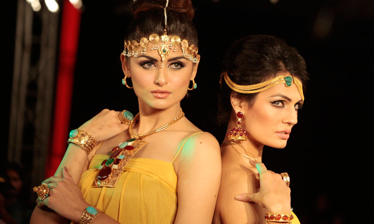 Models present creations by Pakistani designer Nosheen during the last day of Islamabad Fashion Week. – Photo by Reuters
