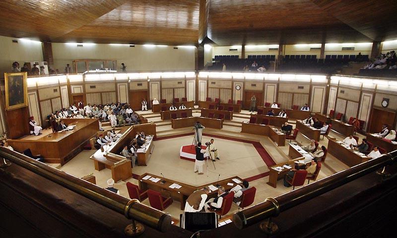 Speaker Mir Jan Muhammad Jamali presiding over the session of Balochistan Assembly.— Photo by Online