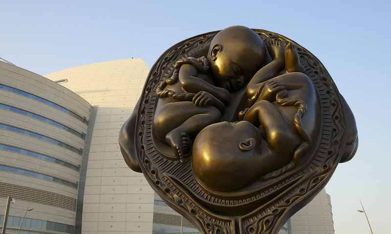 Qatar unveils Hirst's 'Miraculous Journey'