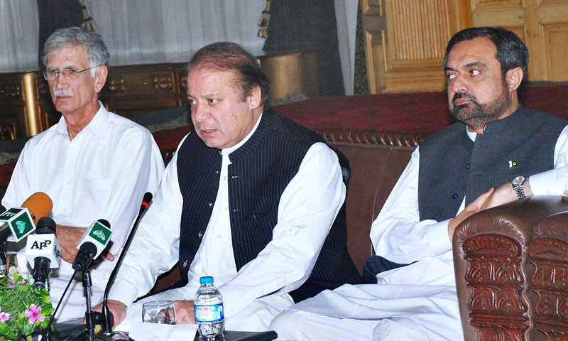 Nawaz says 'sincere' on Pakistani Taliban talks