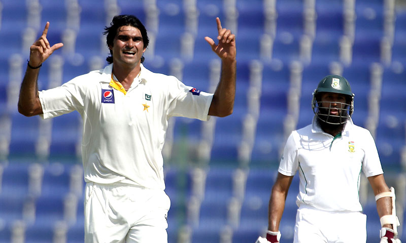Irfan made early inroads into South Africa's batting line up in the opening session of the first Test. -Photo by AFP