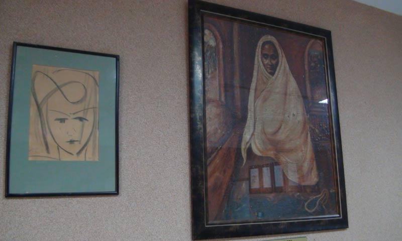 Paintings by Dr Salimuzzaman Siddiqui.  -Photo courtesy  Har Jiawei