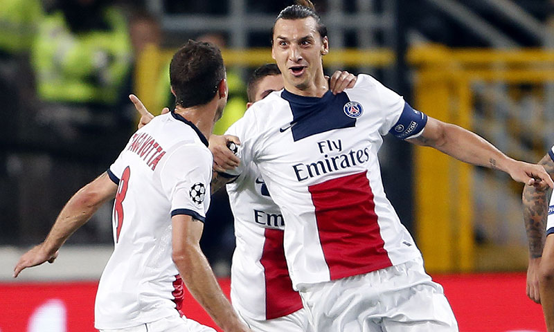 5268e30c7d811 - Ibrahimovic stars as Champions League goals flow