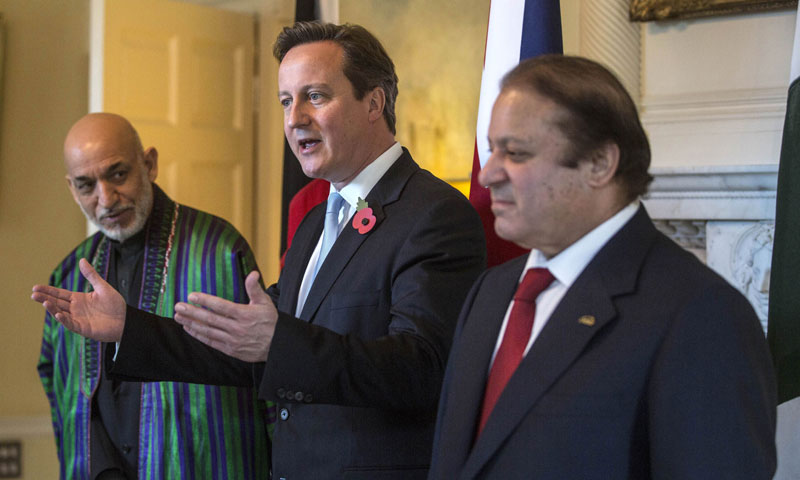 Nawaz, Karzai, Cameron reaffirm commitment for Afghan peace
