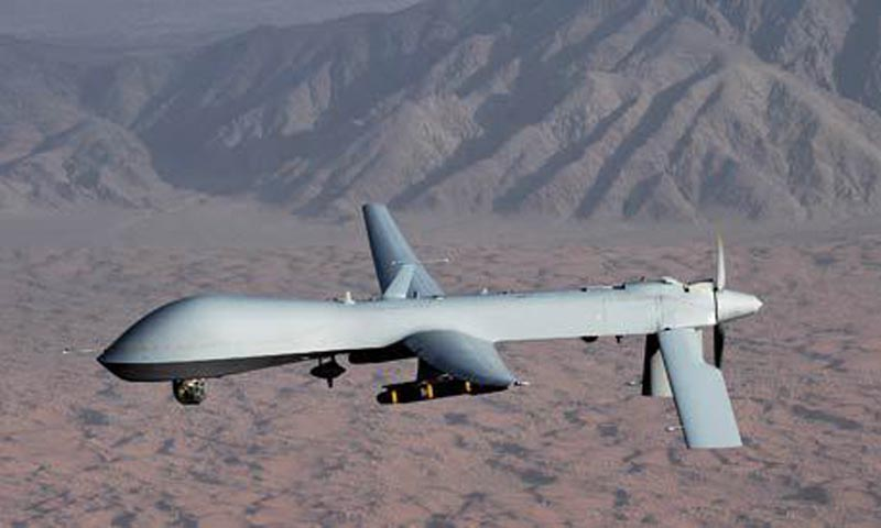 Undated handout image courtesy of the US Air Force shows a MQ-1 Predator unmanned aircraft. — File Photo by Reuters