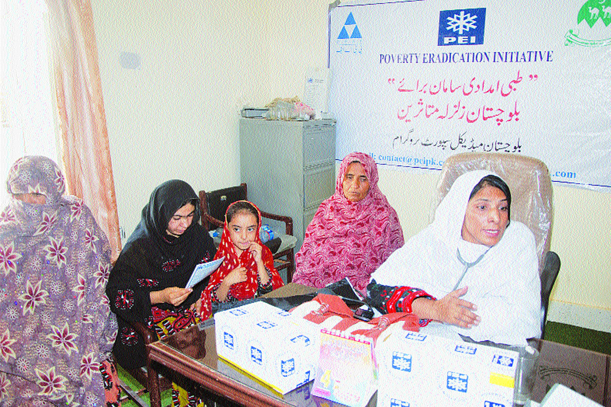 Doctors at a medical camp.-Photos by ISPR and White Star