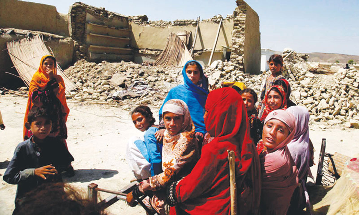 Awaran is prone to natural calamities, with earthquakes and flash floods being the most hazardous.-Photos by ISPR and White Star