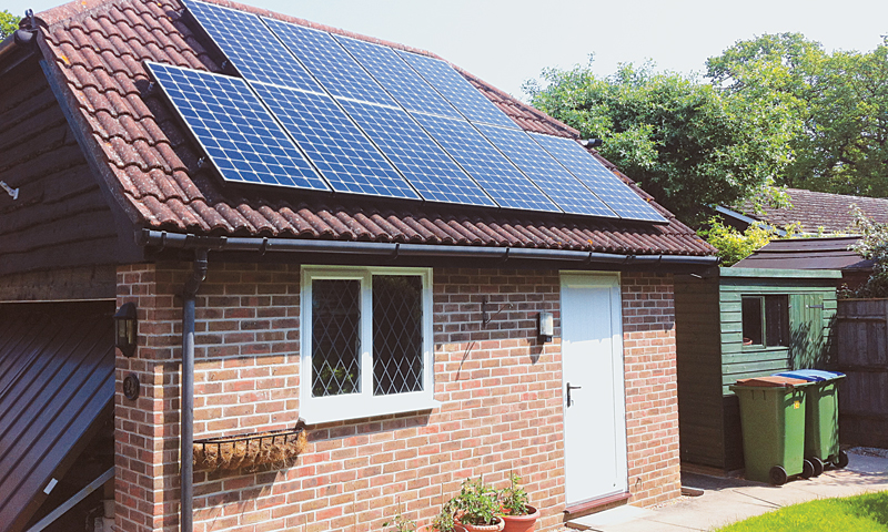 An example of how a solar-powered house looks, from the outside at least.
