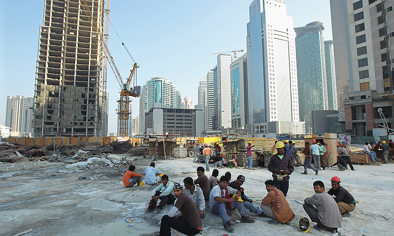 Qatar, which rejects claims of slavery-style conditions on its building sites, promised to include the Amnesty report in an inquiry it has already launched. -Photo by AP
