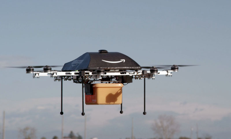 This undated image provided by Amazon.com shows the so-called Prime Air unmanned aircraft project that Amazon is working on in its research and development labs. — Photo by AP
