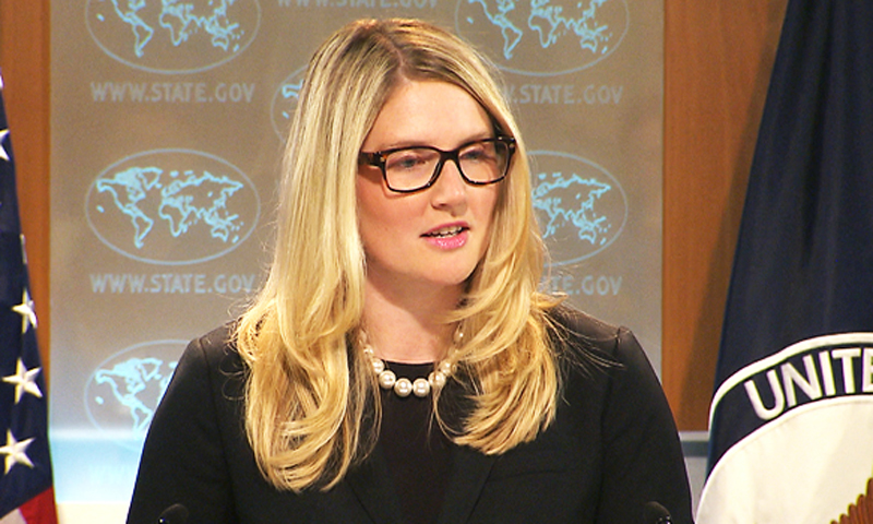 """We favor shipping cargo via Pakistan because of the cost. And hopefully I don't anticipate that there will be any long-term impact to our retrograde movement because of the current situation,"" Deputy Spokesperson Marie Harf said at the daily briefing. — File Photo"