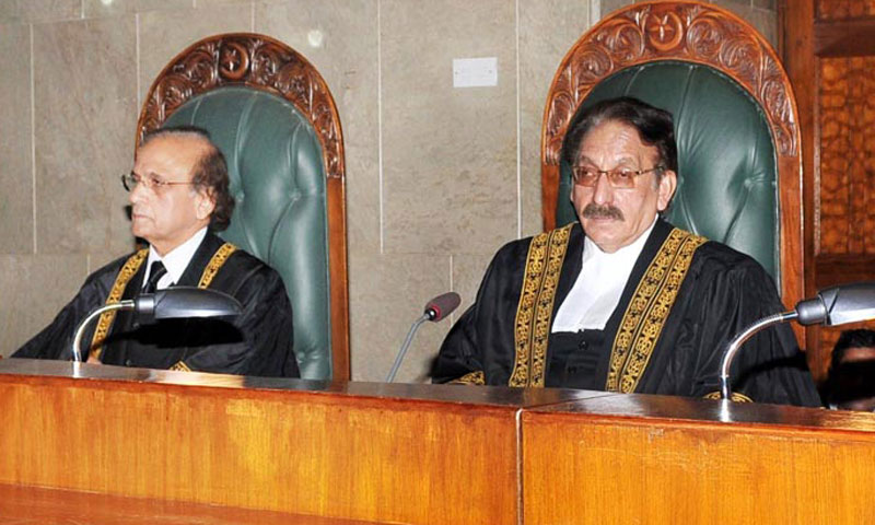 Chief Justice Iftikhar Muhammad Chaudhry presiding over Full Court meeting on the eve of his retirement at Supreme Court in Islamabad on Wednesday. – Photo by Online