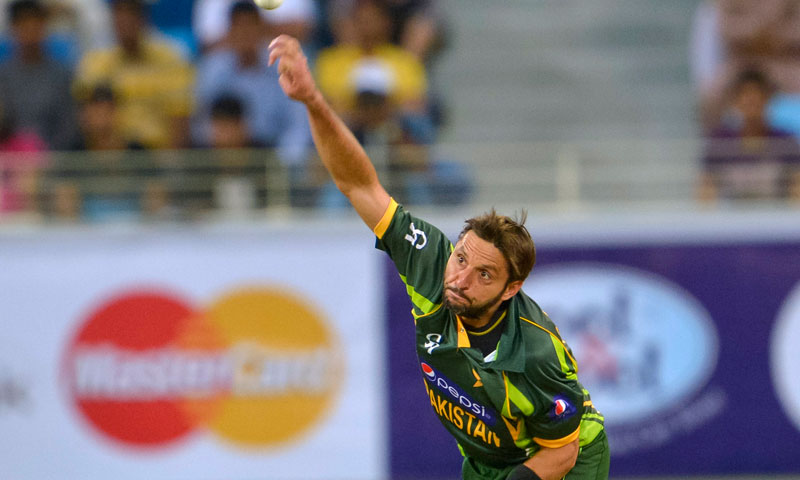 Shahid Afridi took 1-20 in his four overs. -Photo by AP