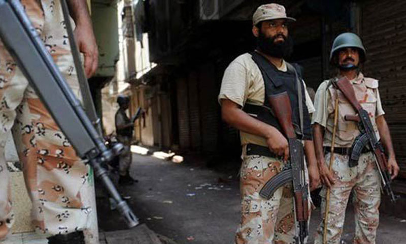 At least seven Rangers' personnel were injured Thursday in a remote-controlled blast, in Karachi's eastern neighbourhood of Landhi. — File photo