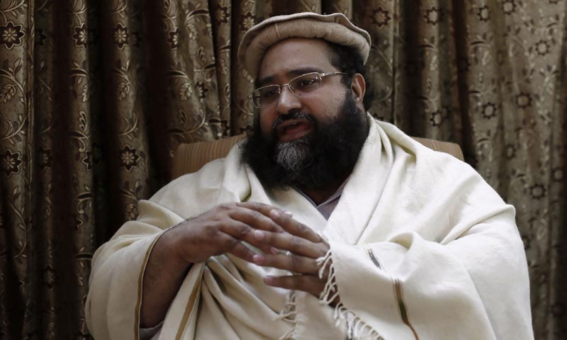 "Tahir Ashrafi, head of the Ulema Council of clerics, speaks during an interview with Reuters in Islamabad December 13, 2013.  ""We are against the killing of any innocent... Such attacks are not acceptable or allowed, but if they break the law, we have a right to go to the police,"" he said. — Photo by Reuters"
