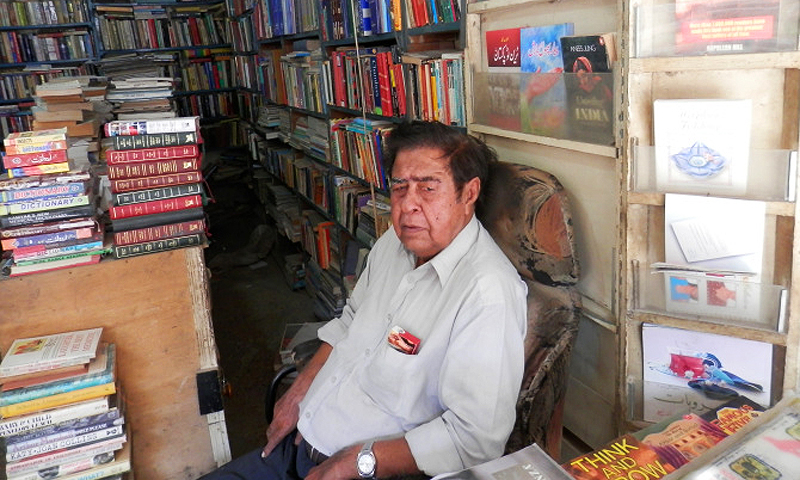 The owner of the American Book Centre, S. M. Aqeel. -Photo by Akhtar Balouch