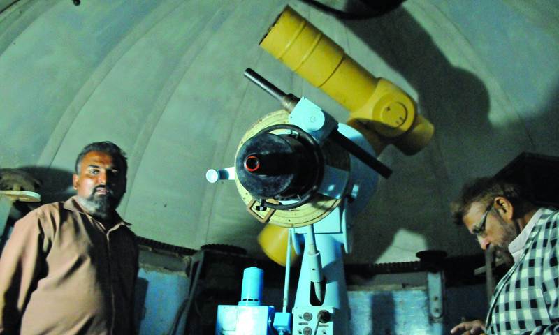 The only existing telescope in Karachi University, acquired in 1956. — White Star Photo