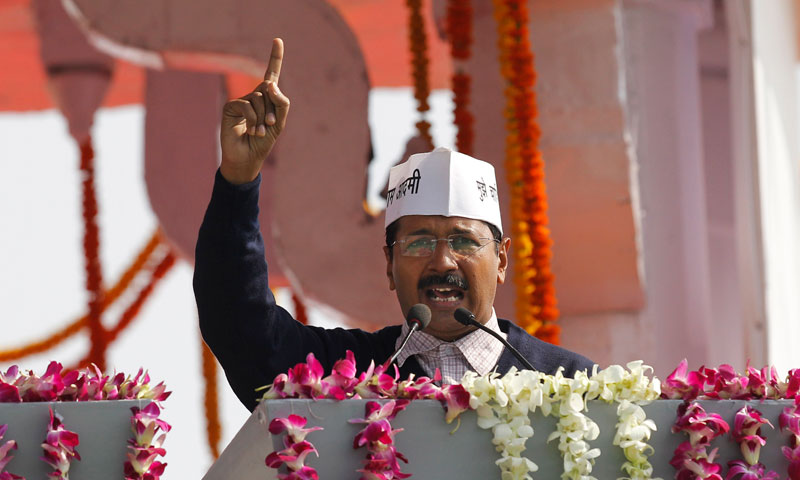 Kejriwal sworn in as Delhi Chief Minister