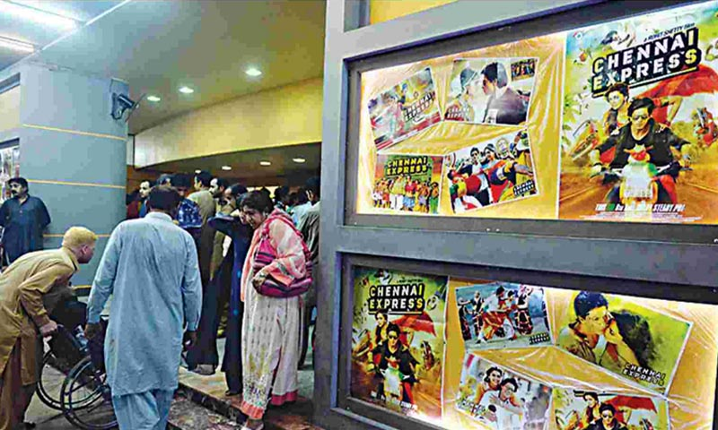 A view of a Pakistani cinema where an Indian movie was screened last year. — File Photo by White Star