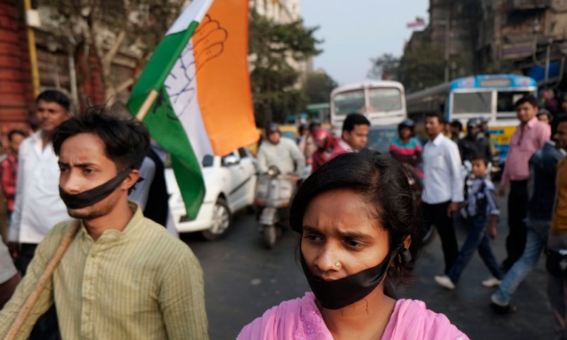 Political swipes in India show rape a voter issue
