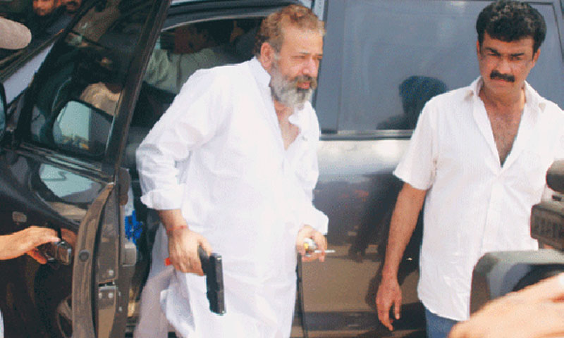 File photo shows SP CID Chaudhry Aslam, who was killed in a powerful explosion targeting his vehicle in Karachi on Thursday.—File Photo