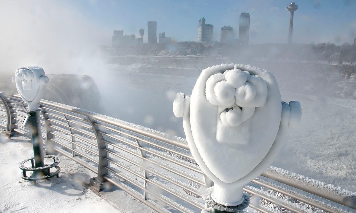 Niagara Falls Frozen Over Multimedia Dawn Com