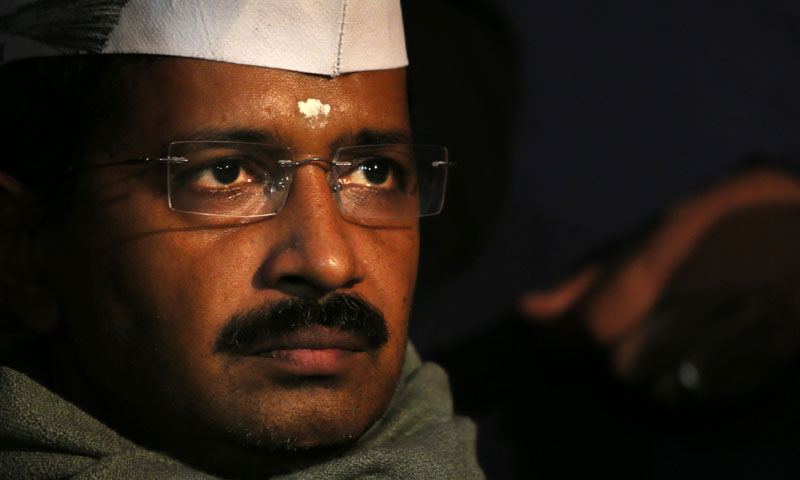 Aam Admi party is spearheaded by Arvind Kejriwal, a 44-year-old former taxman who has modelled himself as an anti-corruption activist and is now the chief minister of Delhi. — File photo