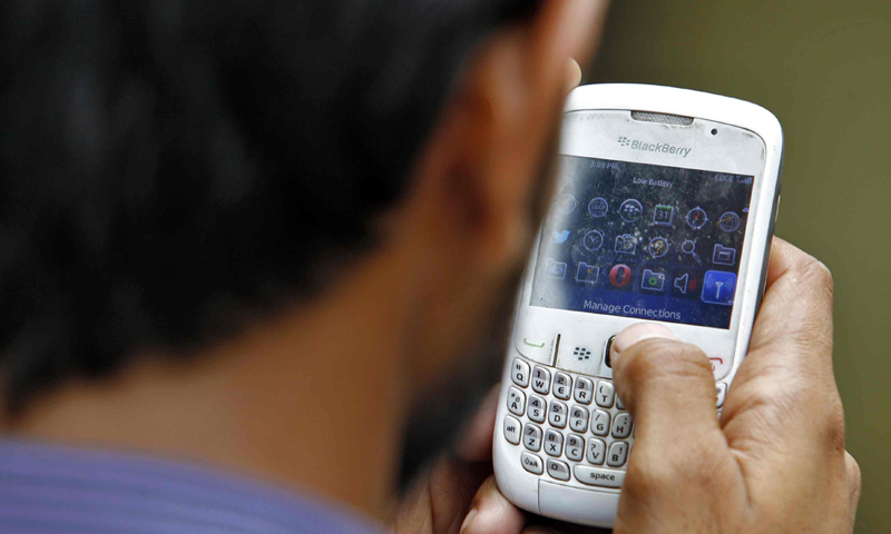 Mobile phone services will remain suspended in most parts of Pakistan on Tuesday, DawnNews reported. – File Photo/Reuters