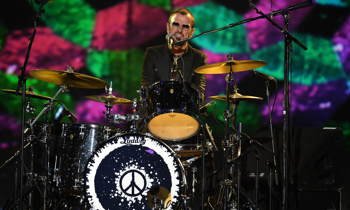 "Ringo Starr performs onstage during ""The Night That Changed America: A GRAMMY Salute to The Beatles"" at the Los Angeles Convention Center on January 27, in Los Angeles, California.  – Photo by AFP"