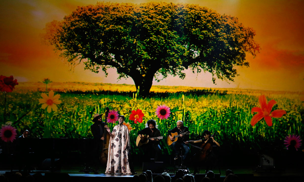 "Katy Perry performs during the taping of ""The Night That Changed America: A Grammy Salute to The Beatles"", in Los Angeles on January 27. – Photo by Reuters"