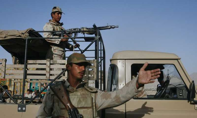 The security convoy was traveling from Wadh area to Bela when it struck a remote controlled explosive device planted on the roadside near Jhao area in Khuzdar district, killing three personnel and wounding four others.— File Photo