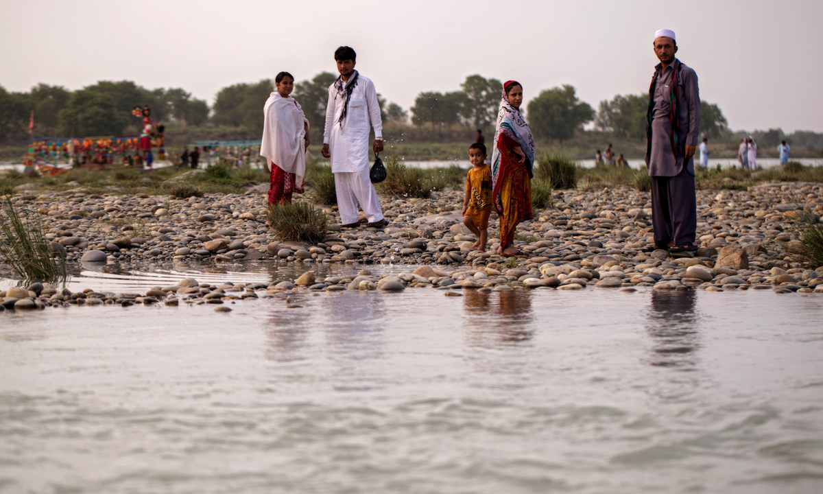 The confluence of the Kabul and Indus rivers at Attock. - Photo by Kohi Marri